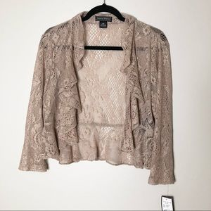 Jessica Howard Gold Sheer Cardigan